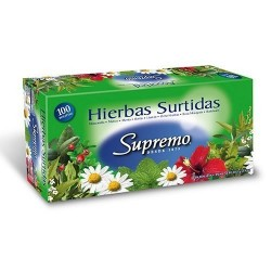 TE HIERBAS SUPREMO SURTIDO CAJA DE 100 BLS