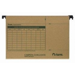 CARPETA COLGANTE TORRE KRAFT B/PLASTICA