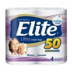 PAPEL HIGIENICO ELITE ULTRA 4 X 50 MTS D/H