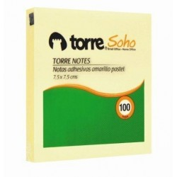 TORRE NOTE AMARILLO 75 X 75 MM 100 HJS
